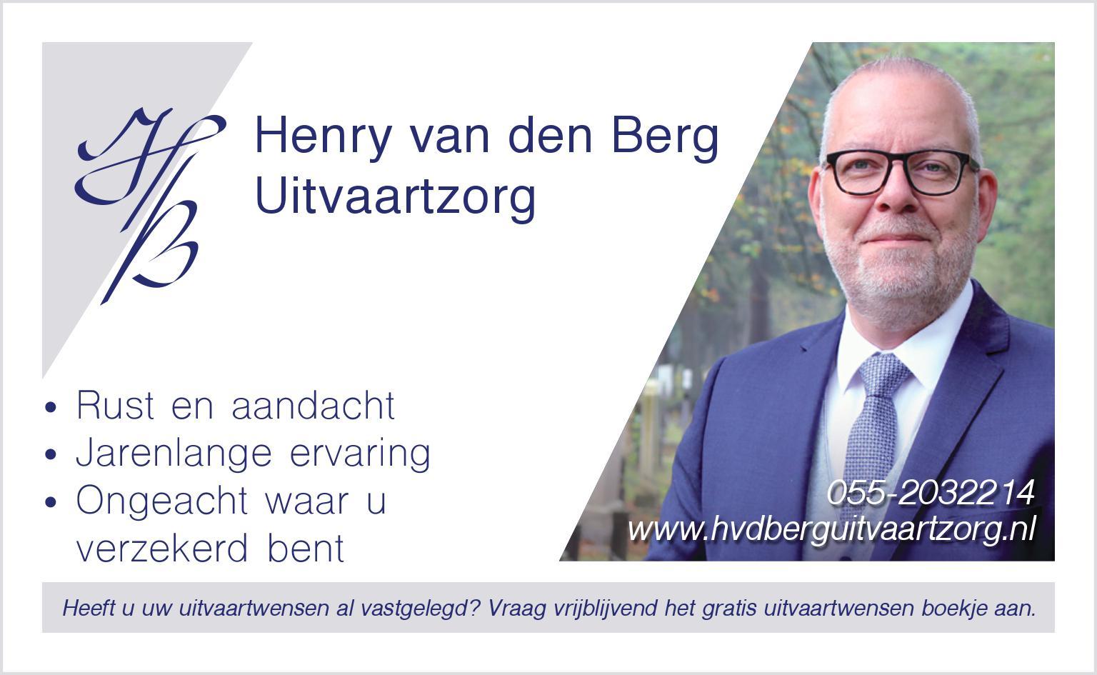 Henry van den Berg, uitvaartzorg